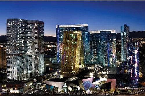 CityCenter - Las Vegas arial at night