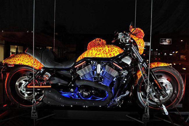 Cosmic Starship Harley Davidson custom motorcycle - Jack Armstrong