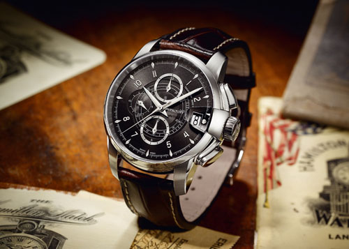 Hamilton luxury watch RailRoad