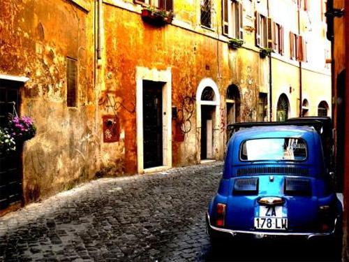 Rome Italy - Trastevere area