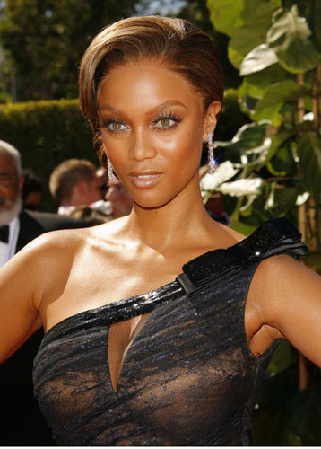 Celebrity And Fashion Model Tyra Banks