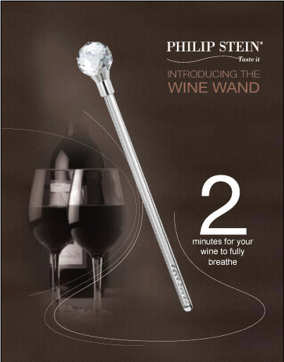 wave the wine wand by philip stein. Black Bedroom Furniture Sets. Home Design Ideas