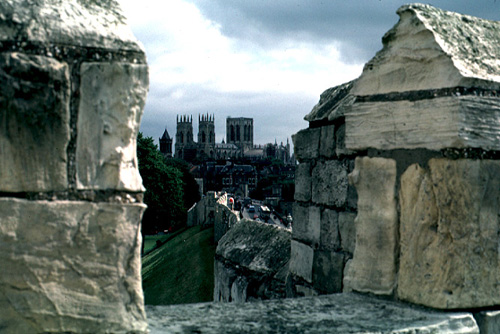 Yorkshire England - Minster City Wall