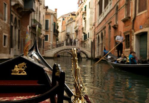 enice, Italy gondola canal ride