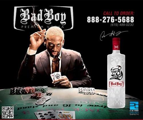 Bad Boy Vodka - Dennis Rodman