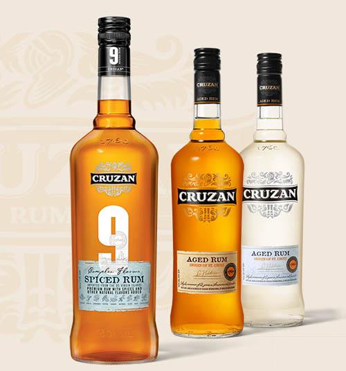 Cruzan rum bottles