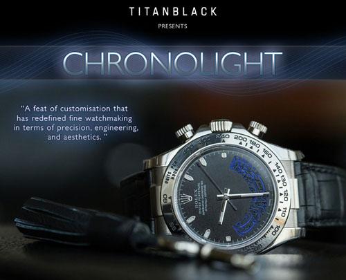 Titan Black Chronolight Luxury Watch
