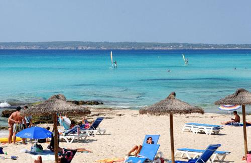 Formentera island beach