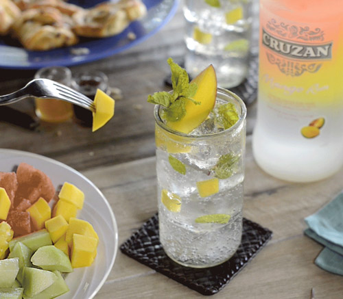 Cruzan Rum - Mango Mojito cocktail