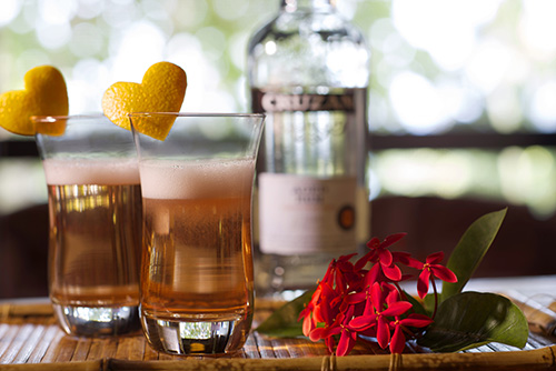 Cruzan Valentine Sparkler cocktail