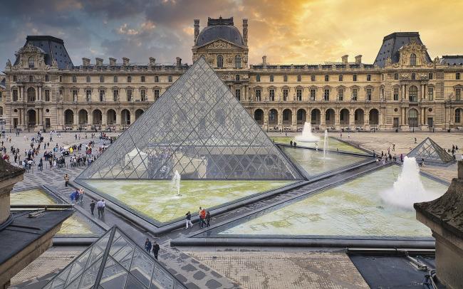 Louvre Museum pyramid - Paris, France