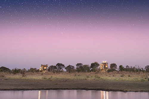 Botswana skybed at night