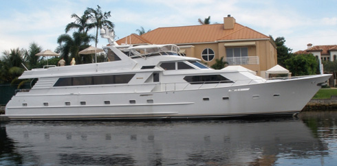 Broward luxury motor yacht