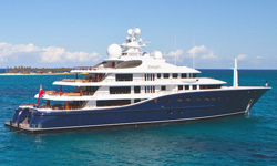 cakewalk luxury super yacht on ocean