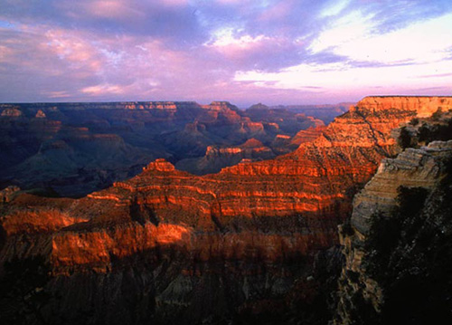 Grand Canyon tour at sunset