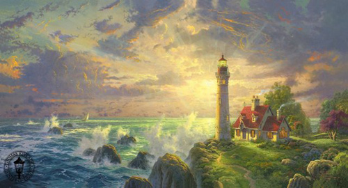 The Guiding Light   Thomas Kinkade Pictures Gallery