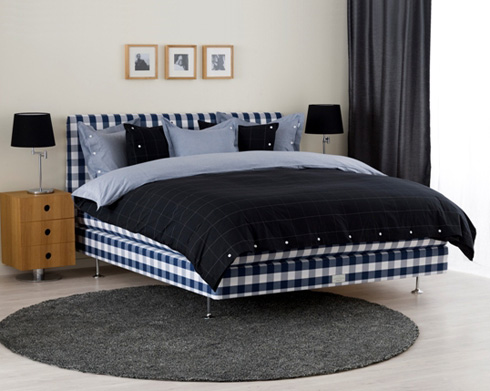 Hastens Continental Blue Check