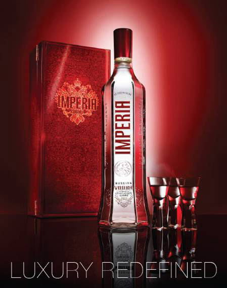 Imperia vodka Tsar Alexander III Crimson treasure chest