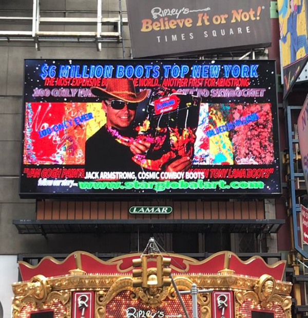 Jack Armstrong Art - Times Square, New York City, Ripley's Museum bigscreen