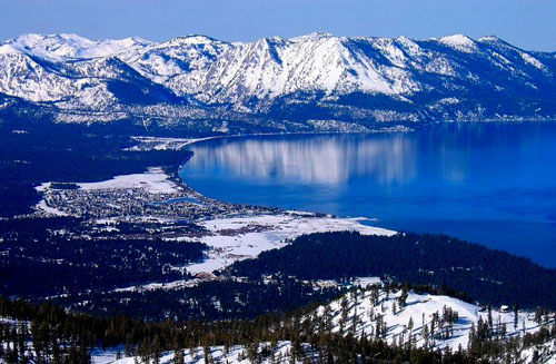 Lake Tahoe mountain snow