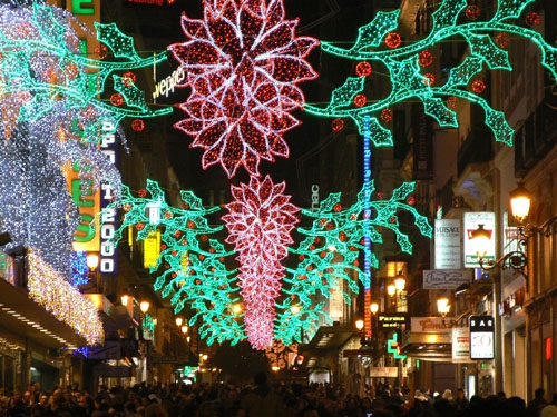 Madrid Spain Christmas Lights