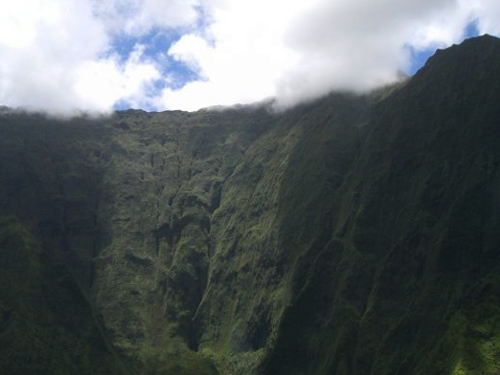 Mount Waialeale crater - Kauai, helicopter