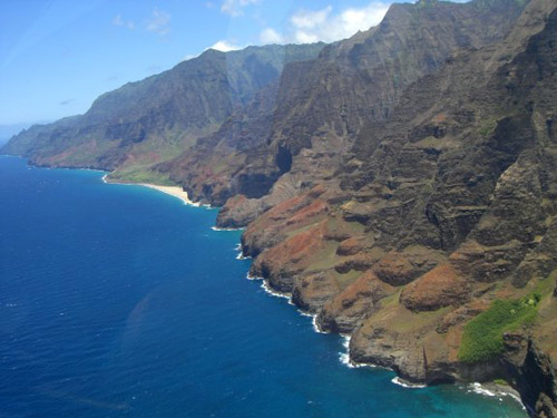 Napali Coast - Kauai by helicopter