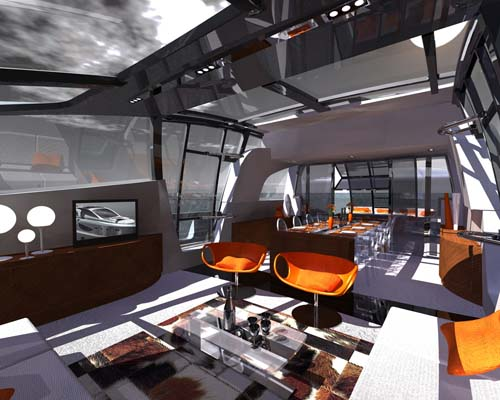 Skycut '86 luxury yacht - interior