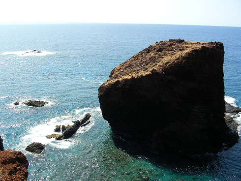 Sweetheart Rock on island of Lanai - Hawaii