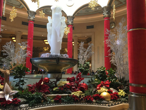 The Palazzo Las Vegas - Christmas lobby luxury holiday decorations