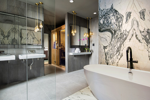 The Time New York hotel penthouse suite bathroom