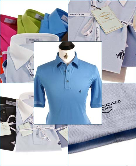 Treccani Milano golf polo shirts