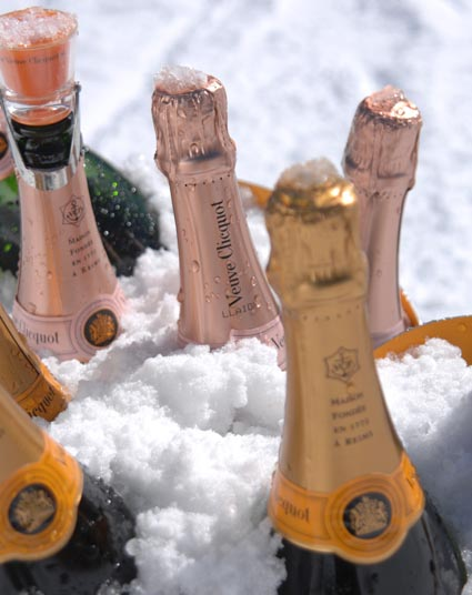 Veuve Clicquot Branded POP-Up Champagne Bar at The Little Nell in Aspen