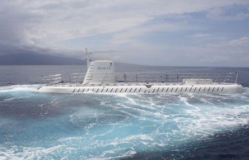 Atlantis submarine rising