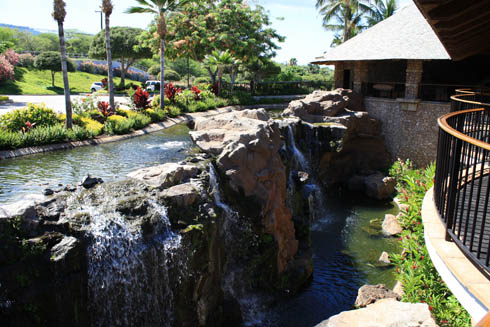 Hotel Wailea waterfall - Maui, Hawaii