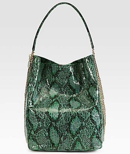 Stella McCartney Faux Python Hobo Bag