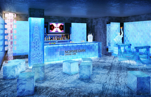 Norwegian Breakaway cruise ship ice bar