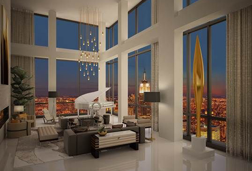 Donald trump trump soho penthouse new york city for Nyc real estate for sale