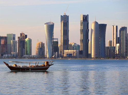 Qatar capital Doha skyline