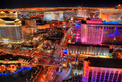 Las Vegas strip lights