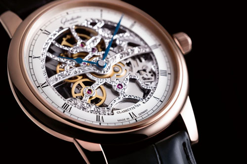 Glashutte Senator Manual Winding Skeletonized Edition watch