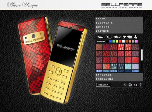 Bellperre made to order luxury phones