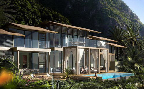 Luxury Villa in St Lucia in the Caribbean