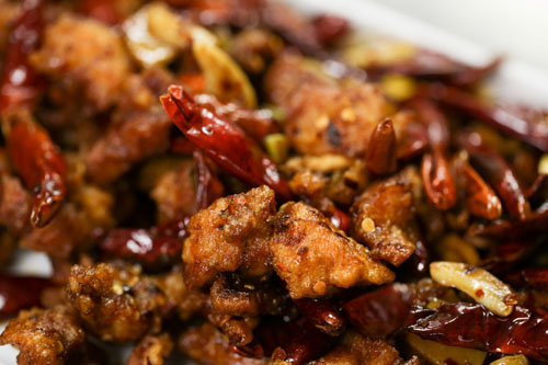 Lao Sze Chuan restaurant in Las Vegas- Three Chili chicken