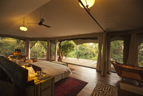 Mara Plains Camp in Kenya - bedroom