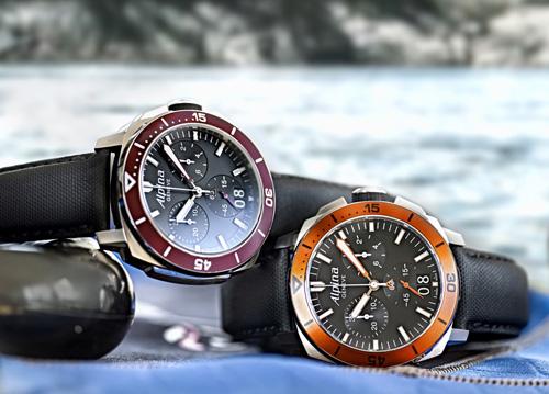 Alpina Seastrong Diver 300 Chronograph Big Date Watch