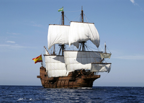 El Galeón Spanish ship