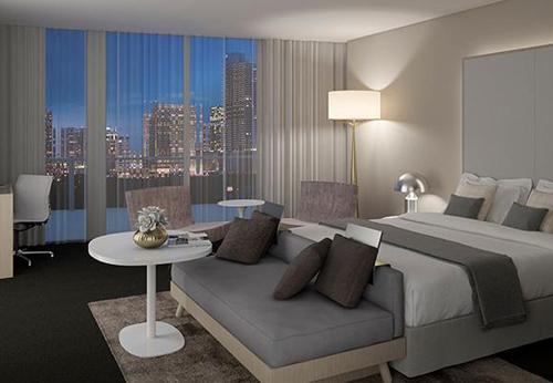 ME Miami hotel room