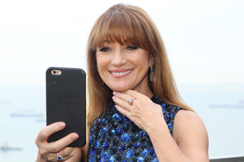 The Jane Seymour blue diamond ring