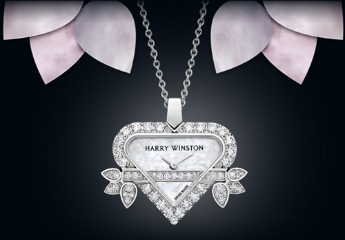 Rosebud Heart by Harry Winston watch